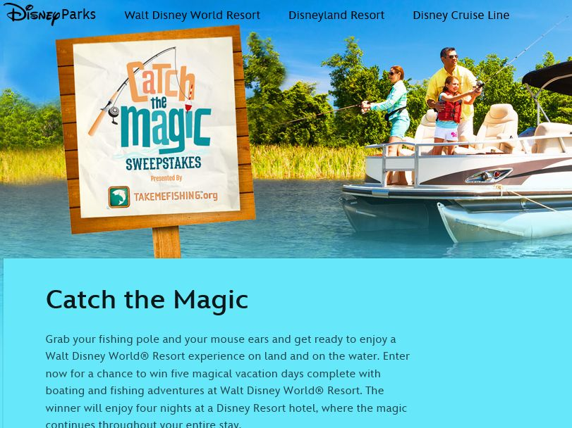The Disney Channel's Catch the Magic Sweepstakes