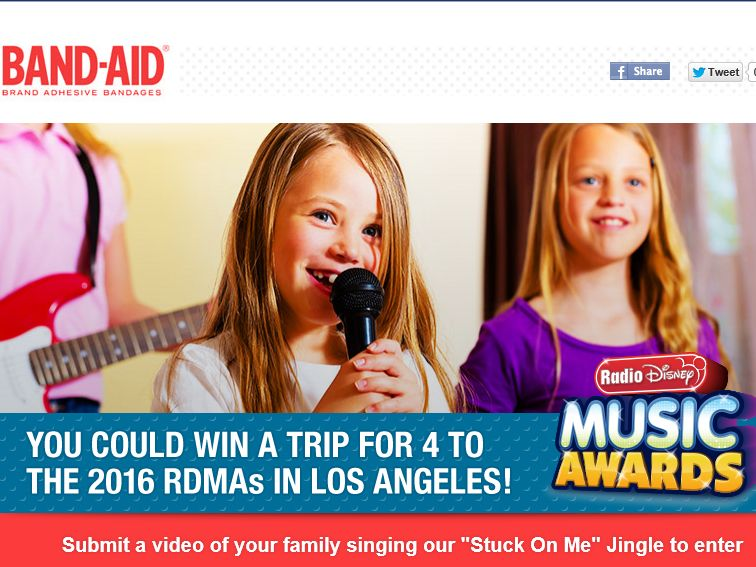"""The BAND-AID Brand """"Stuck On Me"""" Sing-Along Contest"""