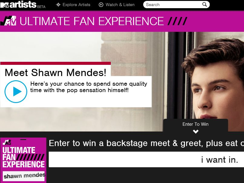 The MTV Shawn Mendes Ultimate Fan Sweepstakes