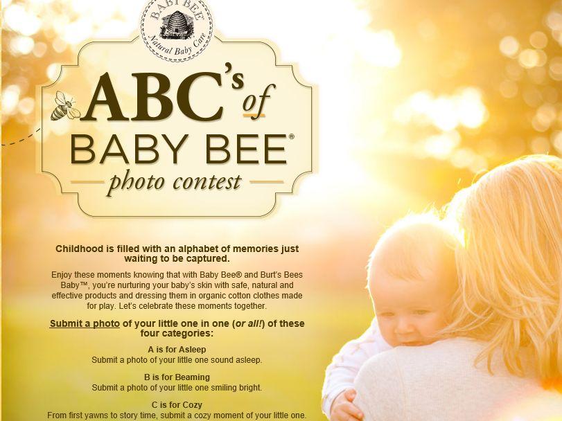 ABC's of Baby Bee Photo Contest