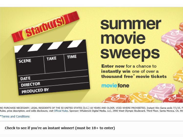 Starburst Summer Sweepstakes