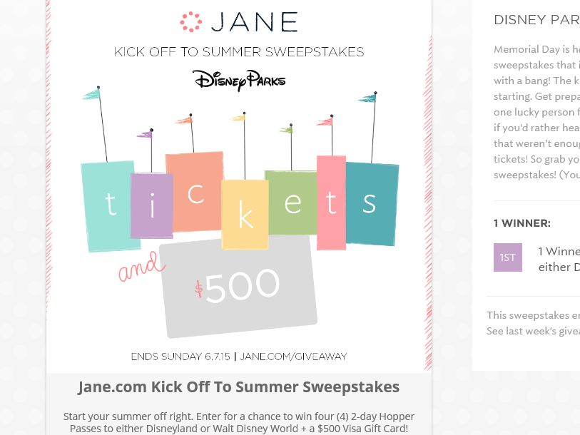 The Jane Giveaway