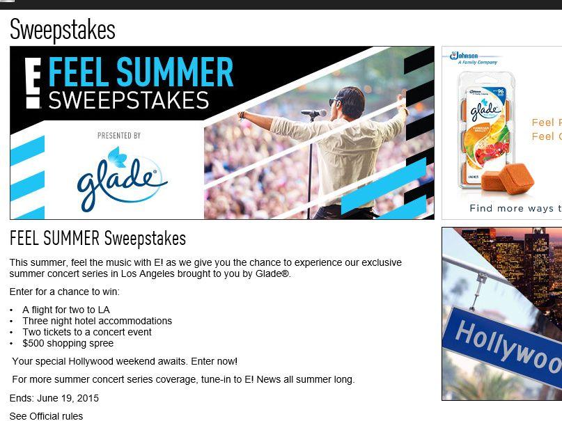 E!Online Feel Summer Sweepstakes
