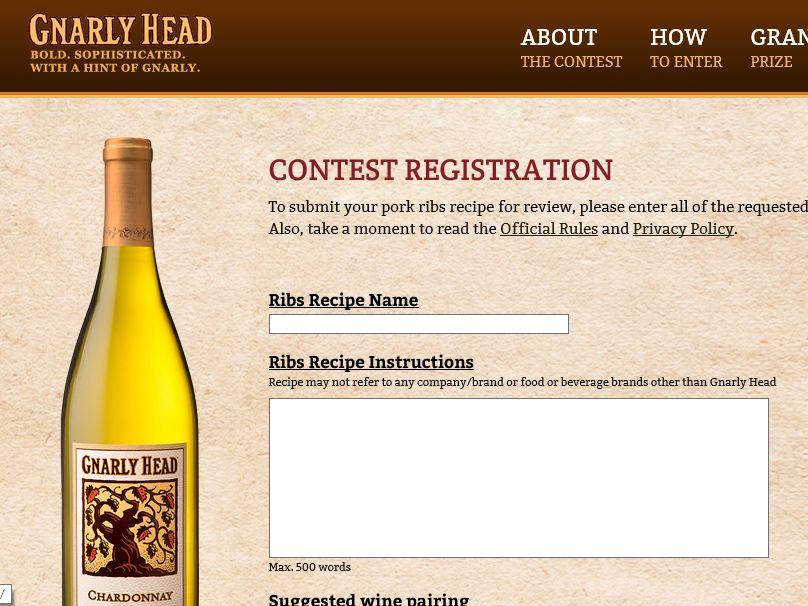 Gnarly Head Wines Ribs Recipe Contest