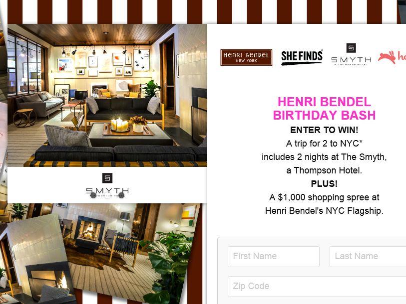 The Henri Bendel Birthday Bash 2015 Sweepstakes