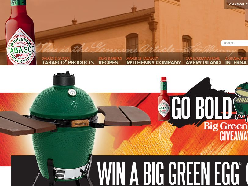 The Tabasco Go Bold With The Big Green Egg Giveaway