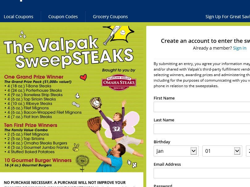 The Valpak Father's Day Sweepstakes