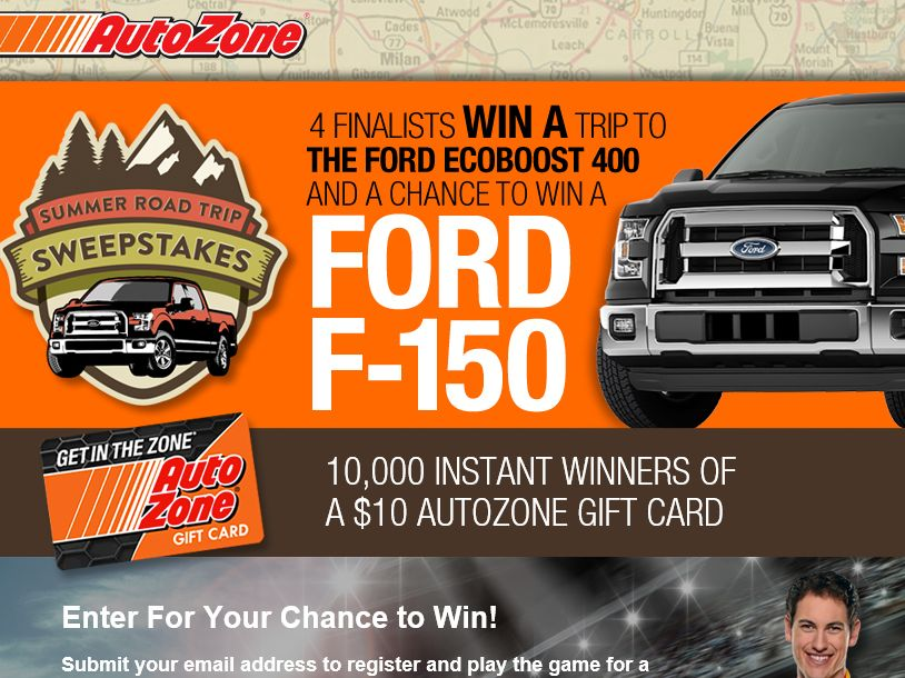 The AutoZone Summer Road Trip Sweepstakes