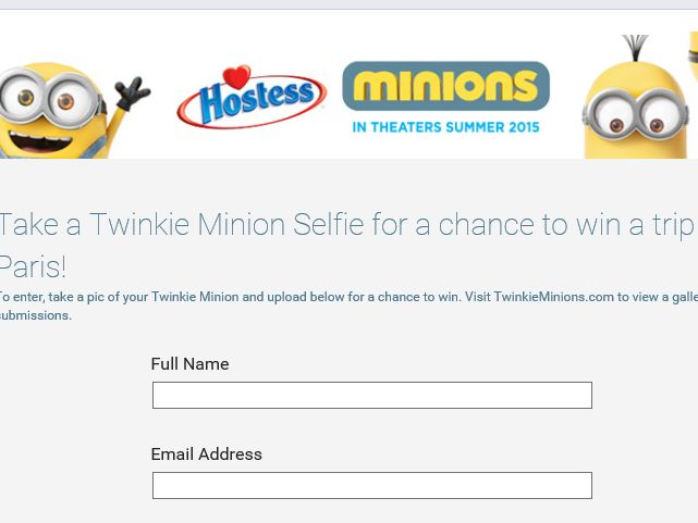 The Ultimate Twinkie Minion Sweepstakes