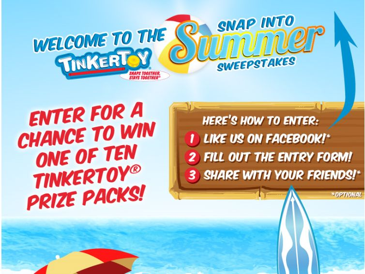 TINKERTOY Snap into Summer Sweepstakes