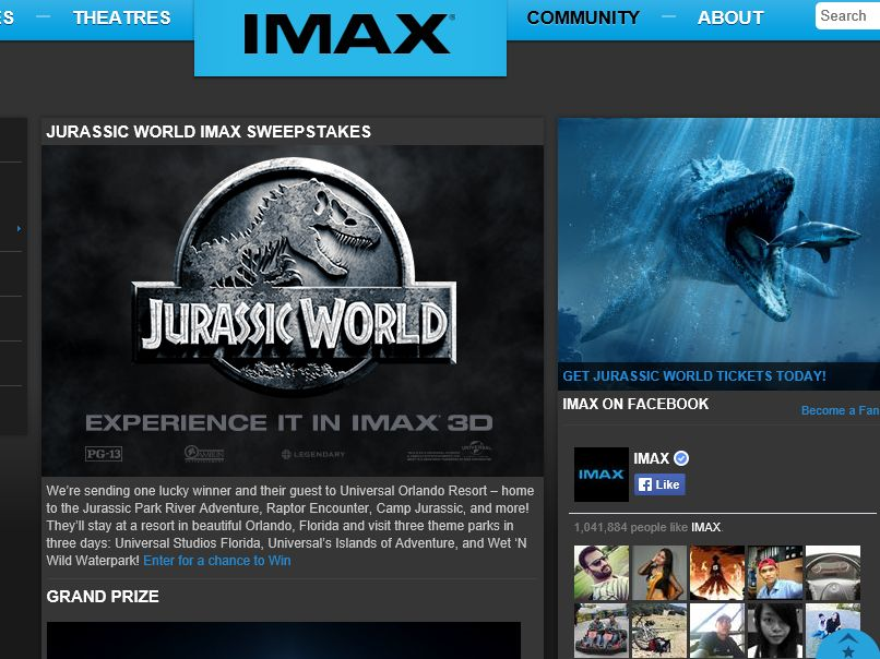 The Jurassic World IMAX Sweepstakes