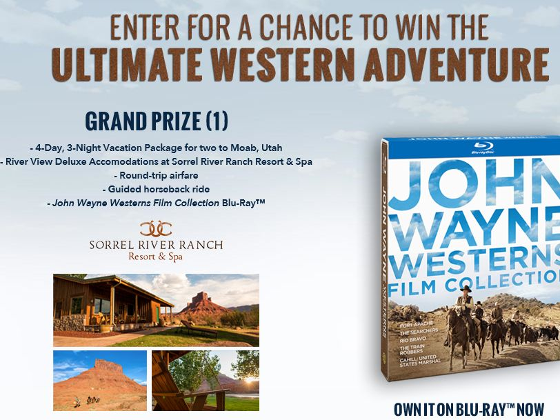 The John Wayne Westerns Film Collection Sweepstakes
