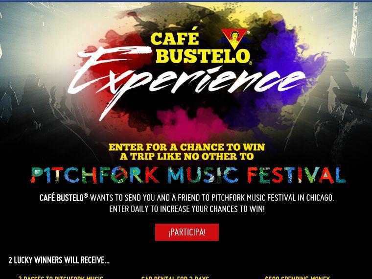 The Café Bustelo Pitchfork Music Festival Trip Giveaway