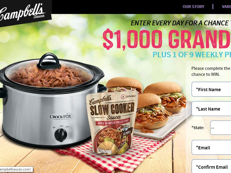Campbell's Simmering Summer Giveaway