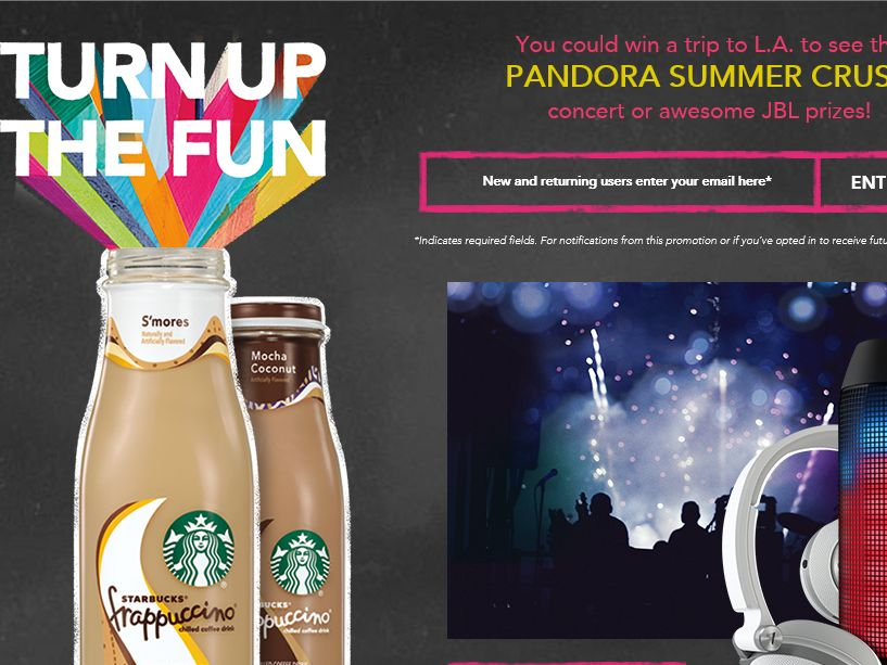 "Starbucks Frappuccino ""Turn Up the Fun"" Sweepstakes"