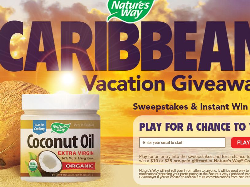 The Nature's Way Caribbean Vacation Giveaway Sweepstakes