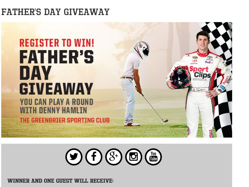 """The Sport Clips """"FATHER'S DAY"""" Sweepstakes"""