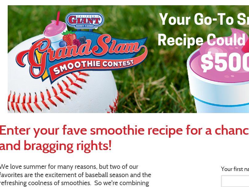 California Giant Berry Farms Grand Slam Smoothie Contest