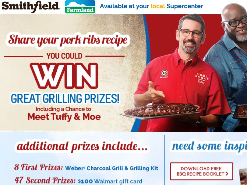 The Smithfield Farmland Summer Grilling Sweepstakes