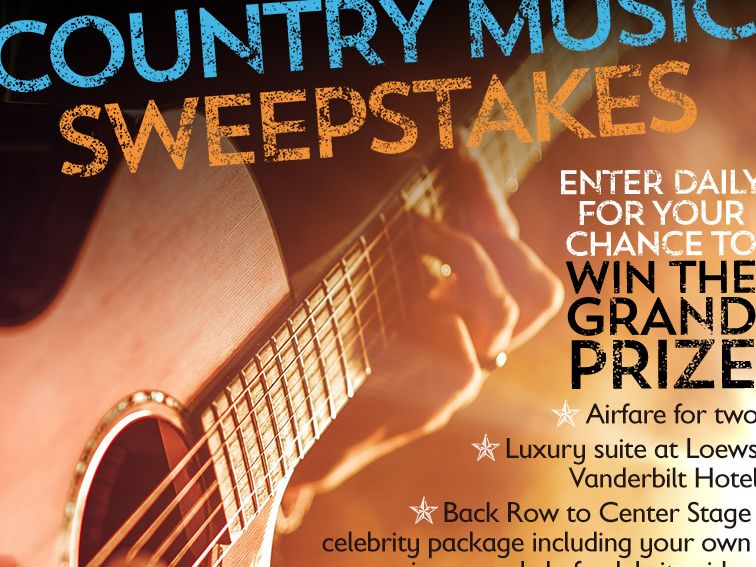 The Loews Vanderbilt Hotel 'Celebrity Suite Life of Country Music' Sweepstakes