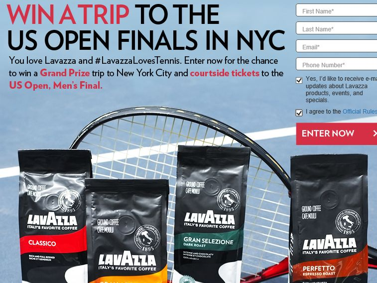 The Lavazza US Open Sweepstakes