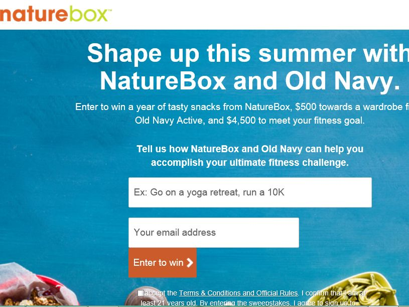 The NatureBox & Old Navy Shape Up for Summer Sweepstakes