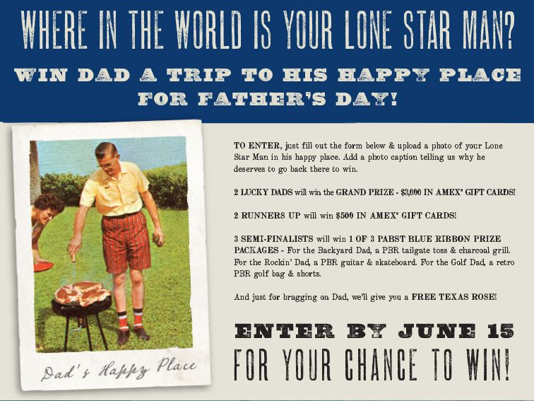 Lonestar Steakhouse Where in the World is Your Lone Star Man Sweepstakes