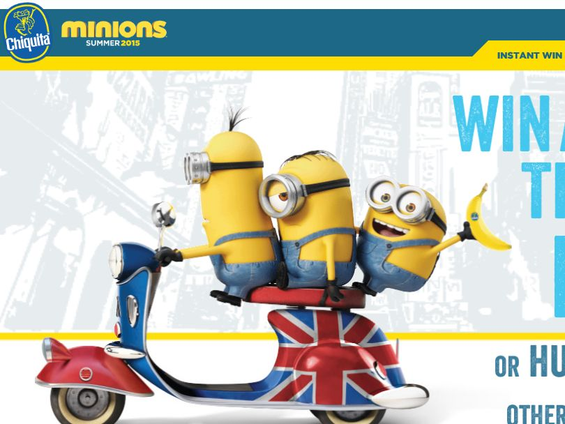 The Chiquita Minions Sweepstakes
