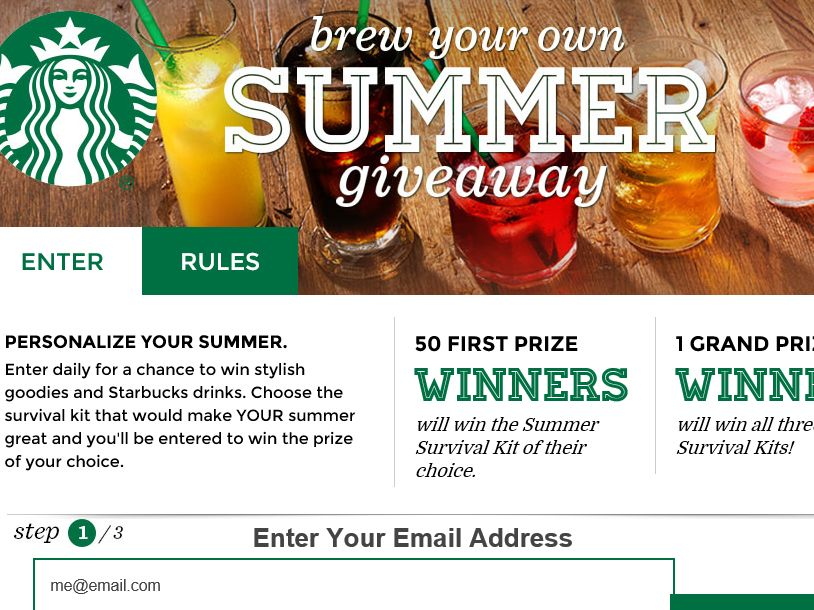 Starbucks Brew Your Own Summer Giveaway