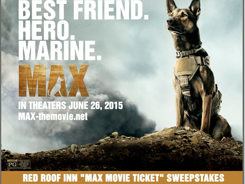 """Red Roof Inn """"Max Movie Ticket"""" Sweepstakes"""