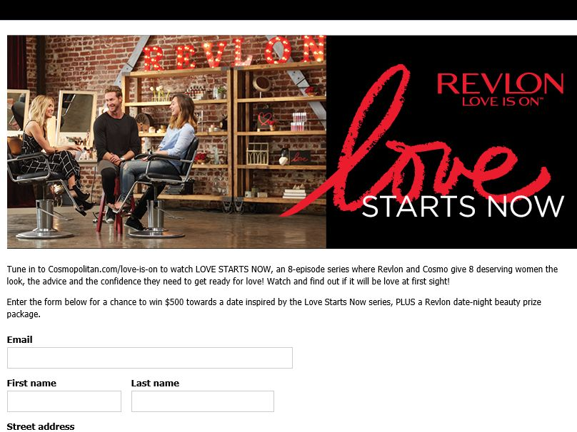Revlon Love Starts Now Sweepstakes
