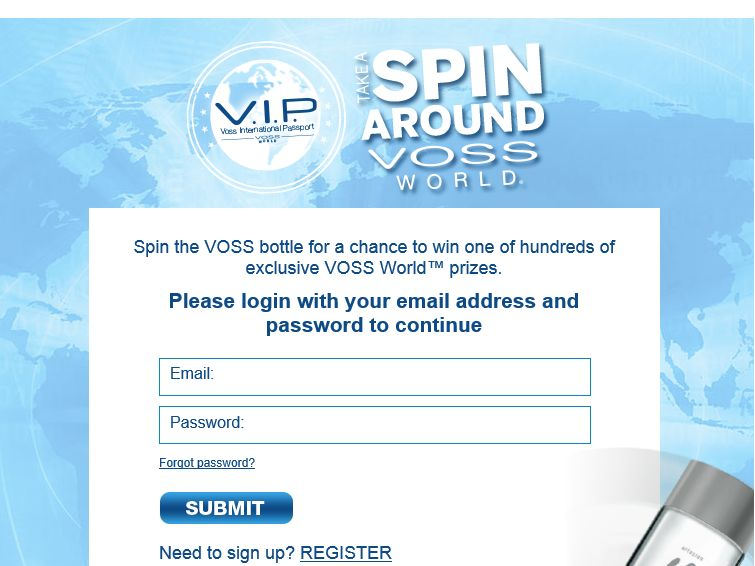 Take A Spin Around VOSS World Sweepstakes