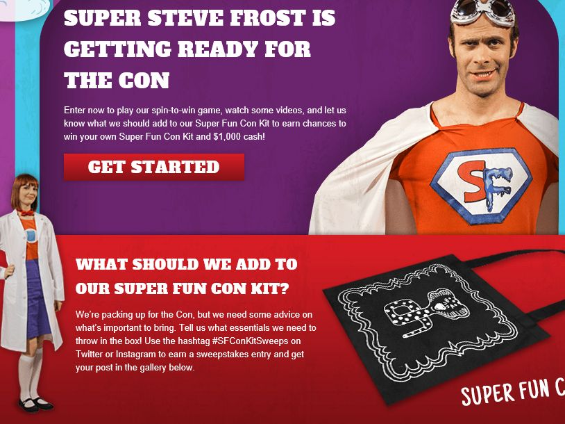 Super Steve Frost and the Super Fun Con Kit Sweepstakes