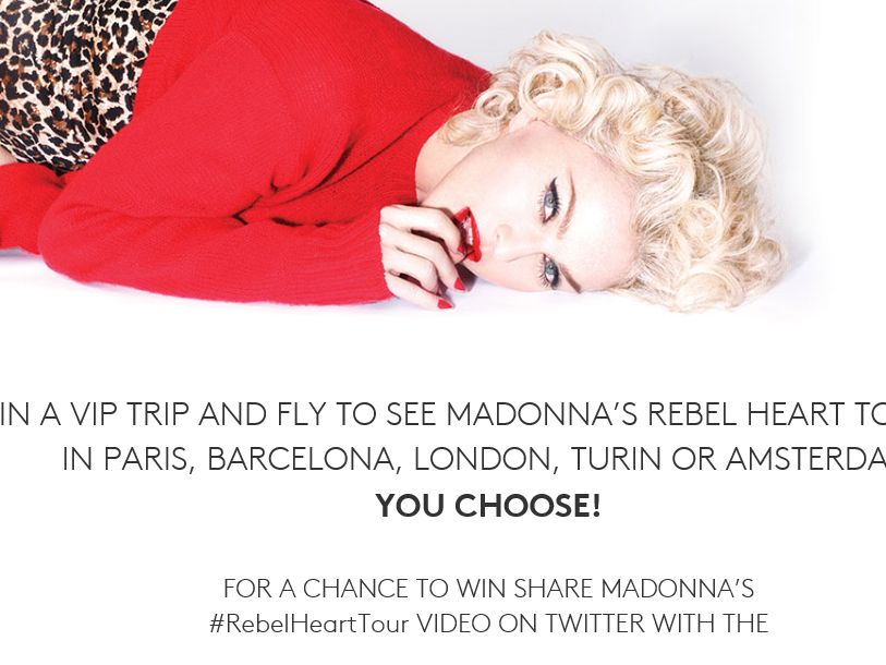 The Madonna Rebel Heart Tour Flyaway Sweepstakes