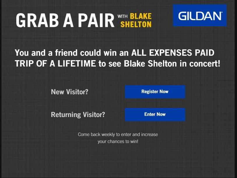 The Blake Shelton & Gildan Sweepstakes
