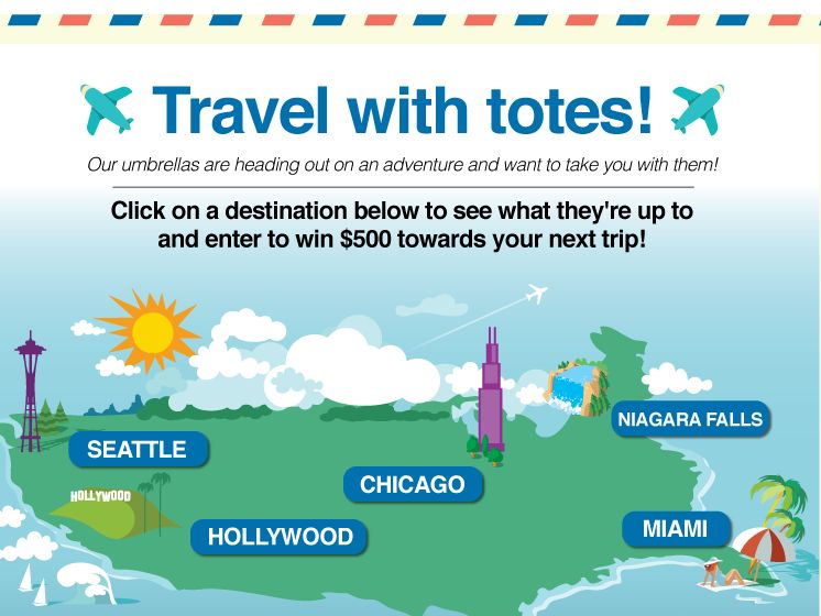 Travel with totes Sweepstakes
