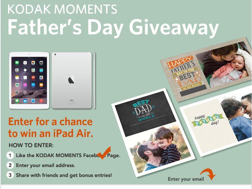 The Kodak Alaris Kodak Moments 2015 Father's Day Sweepstakes