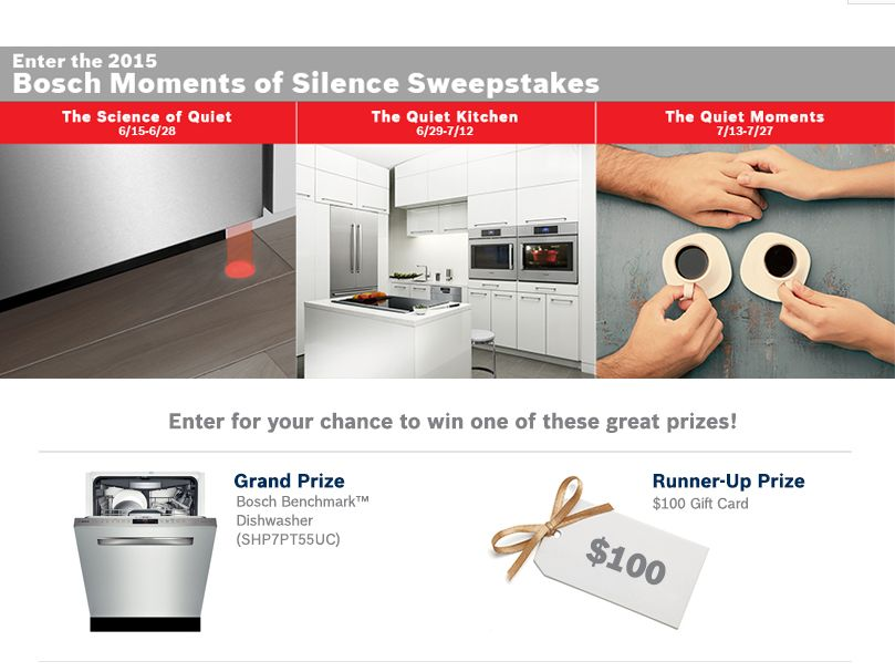 The 2015 BOSCH Moments of Silence Sweepstakes