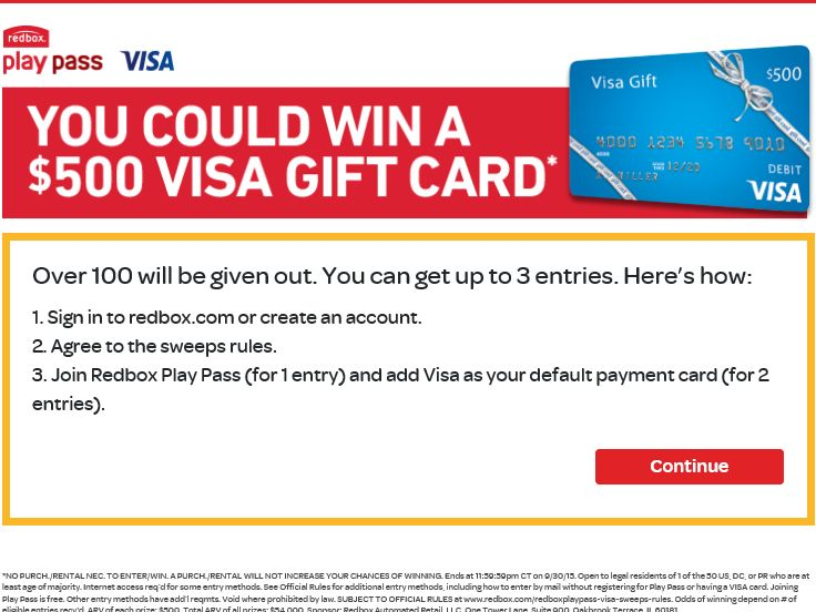 The Redbox Play Pass Sweepstakes