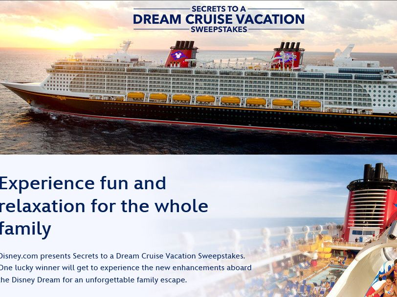 Disney's Secrets to a Dream Cruise Vacation Sweepstakes