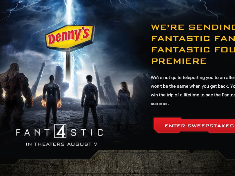 The Denny's Fantastic Four Sweepstakes