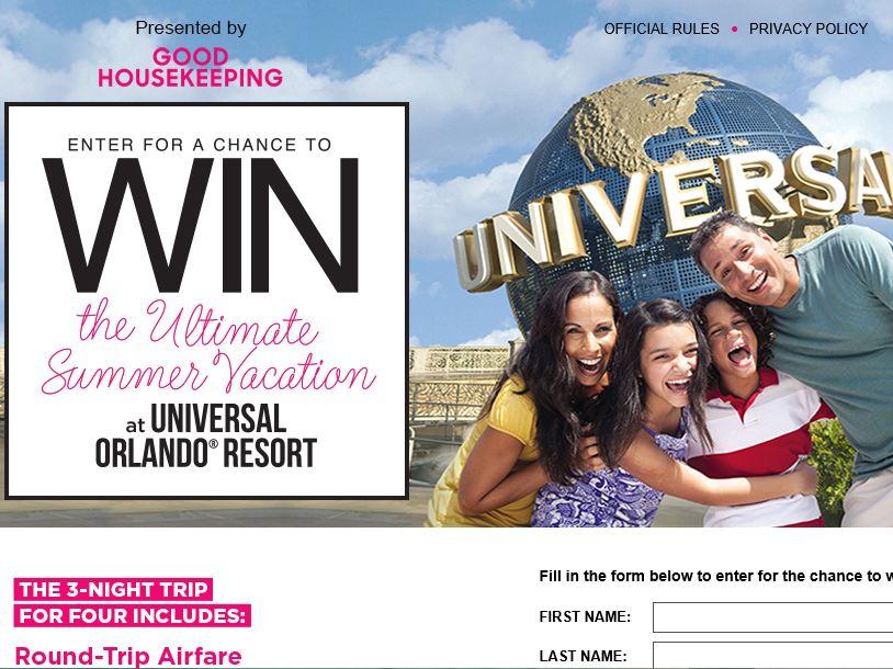 Universal Orlando Resort Trip Giveaway Sweepstakes