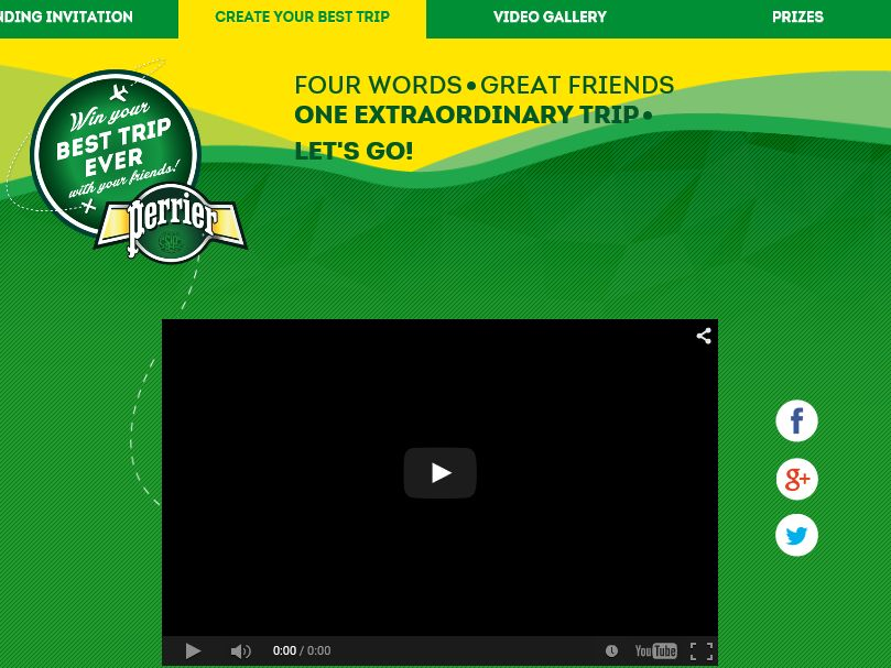"""The Perrier Sparkling Natural Mineral Water """"Win the Best Trip Ever"""" Sweepstakes"""