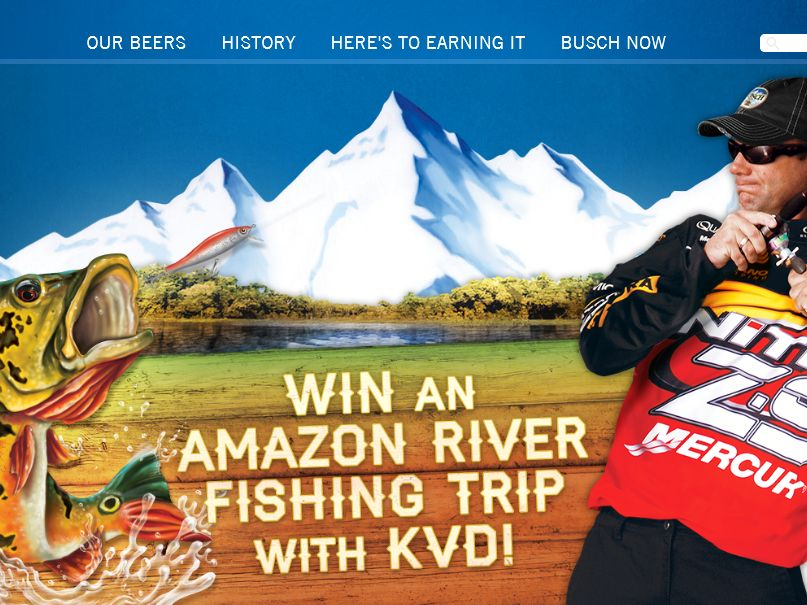 The Busch Amazon Fishing Trip Sweepstakes