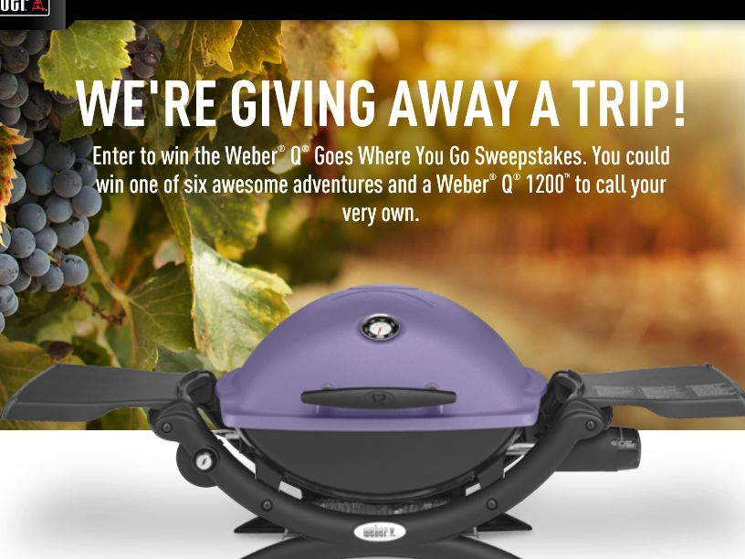 The Weber Q Goes Where You Go Sweepstakes