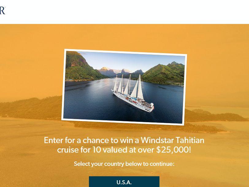 "The Windstar Cruises ""Take 10 Tahiti"" Sweepstakes"