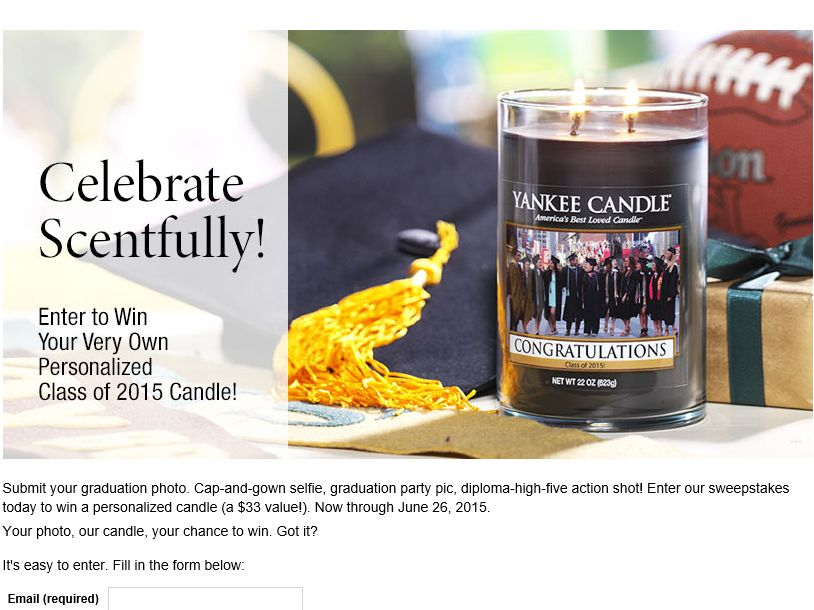 Yankee Candle Promotion: Congratulations Class of 2015 Personalized Candle Sweepstakes