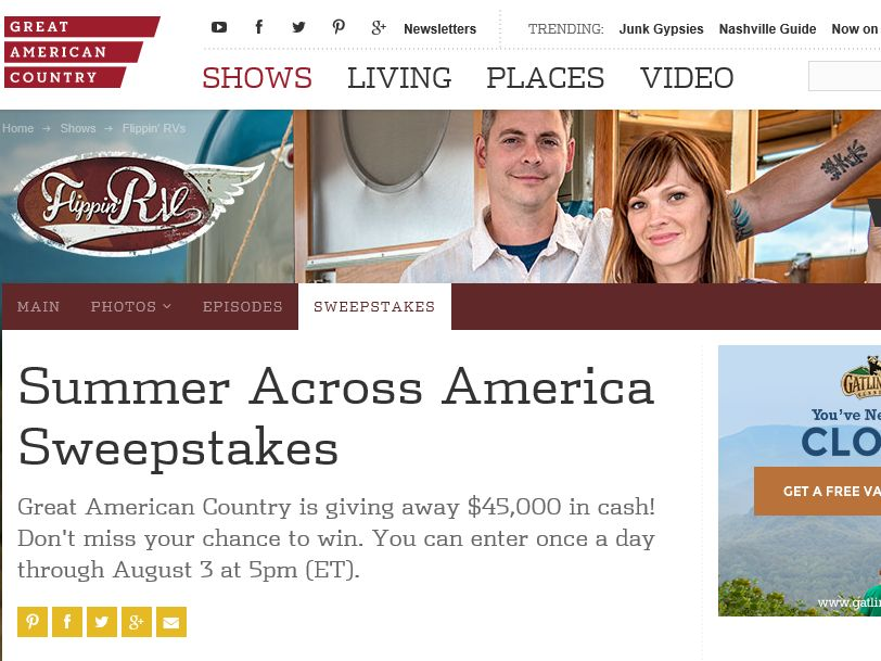 Great American Country Summer Across America Sweepstakes