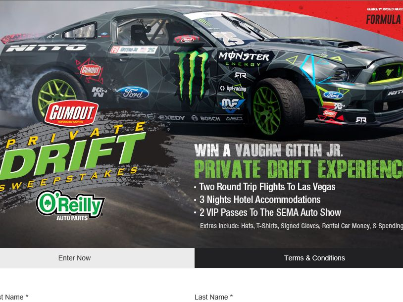GUMOUT Private Drift Sweepstakes