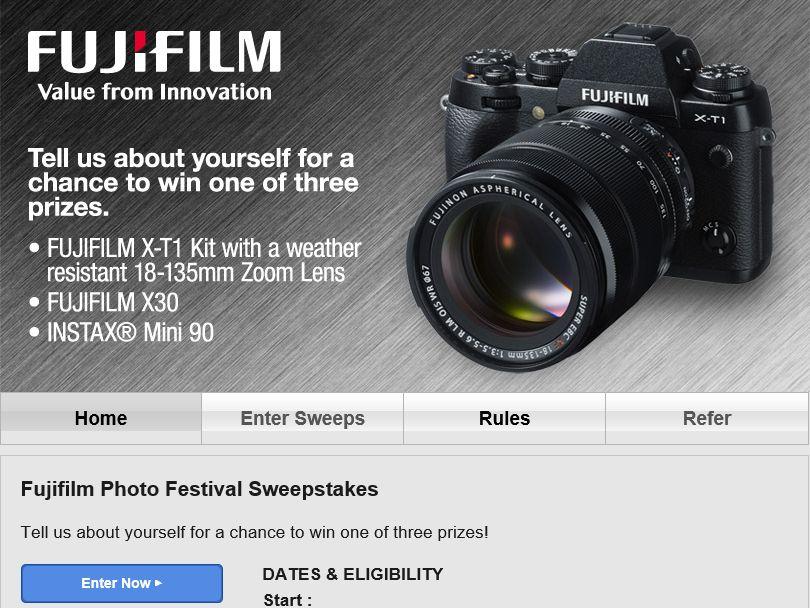 """FUJIFILM """"Photo Festival"""" Sweepstakes"""